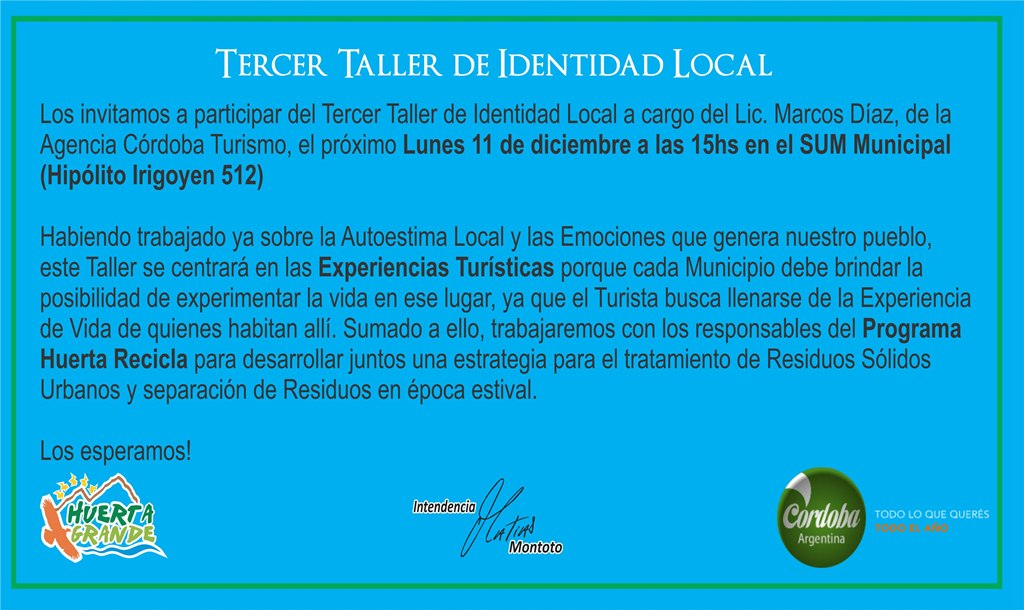Tercer taller de identidad local